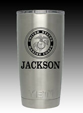 YETI  Rambler 20 oz engraved US Marines United States Custom stainless usmc gift