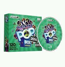 "ZOOM KARAOKE CDG       POP   BOX  2016     6  DISCS  120  POP  HITS   ""NEW"" ''"
