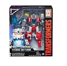 HASBRO Transformers Generations TITANES RETORNO BROADSIDE y Blunderbuss figuras