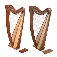Muzikkon 28 String Claddagh Harps, Celtic Irish Harp, Irish lever harp