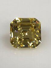 Canary Yellow Asscher Cut 8x8 MM Loose Stone