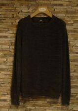 Fynch-Hatton Slate Grey Chunky Ribbed Crew Neck Cotton Wool Jumper Size XXXL New
