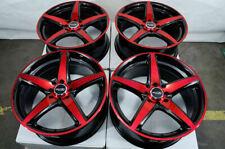 17 Wheels Honda Accord Civic Cobalt Miata Cooper Scion IQ XB XA Black Red Rims