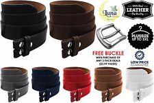 Belt Strap Snap on Genuine One Piece Leather Unisex Belt New Black Brown Tan US