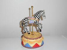 Zebra Carousel Music Box With Movement