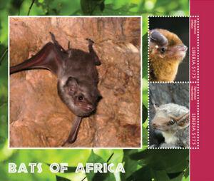 Liberia - 2014 BATS OF AFRICA - Souvenir Sheet of 2 Stamps - MNH