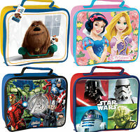 KIDS CHARACTER SCHOOL BOYS GIRLS INSULATED WIPE CLEAN LUNCH BOX BAG DISNEY