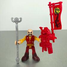 Imaginext RED & YELLOW SAMURAI figure with flag hood & sword from Samurai Castle