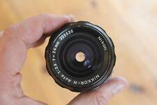 Nikon Nikkor 24mm f2.8 AI prime lens superb condition