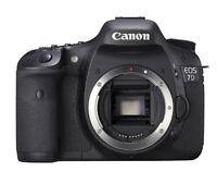 Canon EOS 7D 18.0 MP Digital SLR Camera - Black (Body Only) -Fedex to USA