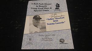Tom Tommy Lasorda LA Dodgers Autographed Dinner Program COA