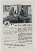 1912 American Telephone Telegraph Bell System Long Distance Advertising Print Ad
