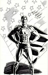 JERRY ORDWAY SIGNED 2021 SUPERMAN ORIGINAL ART-7 X 10!  FREE SHIPPING!