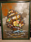 Vintage 1970's Ship Painting that Lights Up