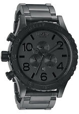 Nixon 51-30 Chrono Black Gunmetal, A0831062 US SELLER/ SAME DAY SHIPPING!