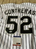 Jose Contreras Autographed/Signed Jersey PSA/DNA COA Chicago White Sox