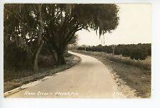 Apopka FL Road RPPC Vintage Orange County Photo ca. 1940s