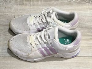ADIDAS Equipment Women's Trainers UK 5.5 White Lilac Used