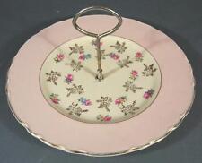 Shabby art deco vintage ceramic Royal Staffordshire cake plate-chic pink roses