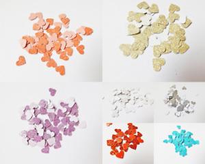 Glitter Hearts Papercraft Embellishments Scrapbooking Card Making Craft Supplies