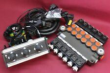 Distributor valve 6 function 6spool 80l/min 24V + control panel with 3 joystick