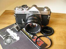 Konica Autoreflex T3 Slr 35mm Film Camera w. 50mm Hexanon Ar f/1.7 Lens Exc+