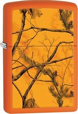 Zippo 2016 Catalog NEW Realtree AP Blaze Orange Matte Windproof Lighter 29130