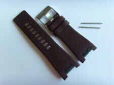 DIESEL Original Ersatzband Lederarmband DZ4246 Uhrband braun 32 mm brown strap