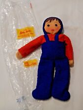 New Old Stock VTG Kathe Kruse Terry Cloth  Cloth Boy Doll 10""