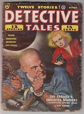 Detective Tales Oct 1944 Pulp Fiction Day Keene Cyril Plunkett Francis K. Allan
