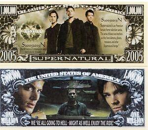 Supernatural TV Series Million Dollar Novelty Money