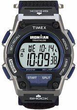 Timex T5K198, Men's Ironman 30-Lap Wrapstrap Watch, Shock, Indiglo, Indiglo