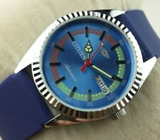 VINTAGE CITIZEN CLASSIC BLUE DIAL  MENS  AUTOMATIC JAPAN WORKING WRIST WATCH MN
