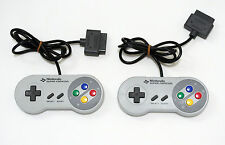 Nintendo Super Famicom Official Controller Pad x2 Set SFC SNES from Japan