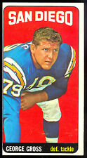 1965 TOPPS TALL BOYS #160 George Gross rc EX-NM SAN DIEGO CHARGERS rookie auburn