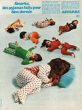 publicité advertising   1971   ABSORBA   pyjamas enfants