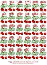 Cherries for Tipp City Spice Jars Set Labels, Decals