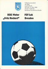 DDR-Liga 82/83 BSG Motor Fritz Heckert Karl-Marx-Stadt - FSV Locomotive Dresden