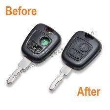 Repair Service for Peugeot 206 307 Citroen 2 button remote key REFURBISHMENT