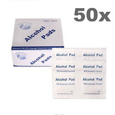 50Pcs Alcohol Pad Swabs Pads Wipes Antiseptic Disinfect Medicine Skin Cleanser