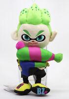 """GENUINE Splatoon 2 Boy Inkling Neon Green Stuffed Plush 10"""" Little Buddy 1661"""