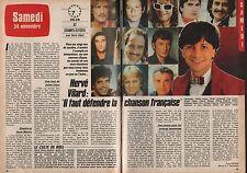 Coupure de presse Clipping 1984 Hervé Vilard   (2 pages)