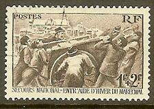 """FRANCE TIMBRE STAMP N° 497 """" SECOURS NATIONAL 1F + 2F  """" OBLITERE TB"""