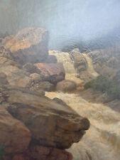 sublime,ancien peinture d'artiste__wildes Eau dans Montagne__Hermann Pohle__Top