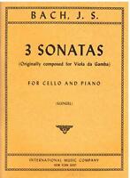 Bach: 3 Sonate Für Violoncello E Klavier (Klengel) - I. M.C