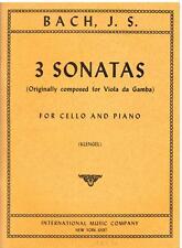 Bach: 3 Sonate Per Violoncello e Pianoforte (Klengel) - I.M.C.