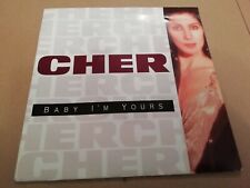 """CHER * BABY I'M YOURS * 7"""" SINGLE EXCELLENT 1990"""