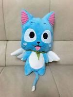 12'' Anime Blue Cat Happy Cartoon Doll Plush Soft Toy Christmas Birthday Gift us