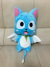 12''  Anime Fairy Tail Blue Cat Cute Happy Cartoon doll plush soft  toys gift