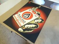 2015 Obey Giant Shepard Fairey Black Gold RARE ART PRINT STREET PASTER POSTER 1